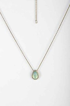 Delicate Teardrop Stone Necklace - Urban Outfitters
