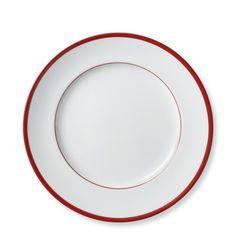 Brasserie Red-Banded Porcelain Salad Plates, Set of 4 #williamssonoma