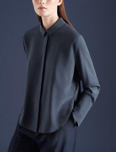 COS | Blue: A study Minimal Fashion, Timeless Fashion, Casual Outfits, Fashion Outfits, Womens Fashion, Look Dark, Shirt Bluse, Fashion Details, Fashion Design
