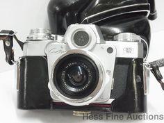 Mint Zeiss Ikon Contarex 35mm Distagon Lens German Superb Optics Camera w Case #ZeissIkon