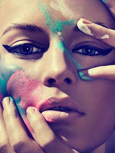 Smeared Makeup #cosmetics #editorial