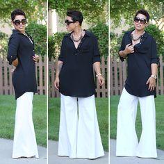 DIY Bell Bottom Pants + Pattern Review Burda 6966 - Mimi G Style