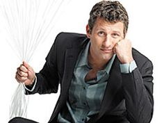 Comedian Adam Hills- biggest Aussie comedian and host of Spicks and Specks. Positive humor and anecdotes. So good.