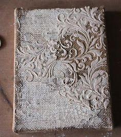 Bookbinding Tutorial: The Romantic Art Journal - Handgemaakte boeken, Boekbinden en Papier maken Handmade Journals, Handmade Books, Handmade Rugs, Handmade Crafts, Diy Crafts, Journal Covers, Book Journal, Mixed Media Canvas, Mixed Media Art
