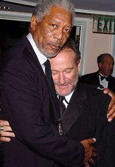 Morgan Freeman & Robin Williams both inspiring people to me Christopher Reeve, Hollywood Actor, Classic Hollywood, Hollywood Actresses, Orange Cinema, Madame Doubtfire, Gta San Andreas, Morgan Freeman, Famous Faces