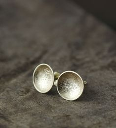 14K Gold Stardust Cup Studs