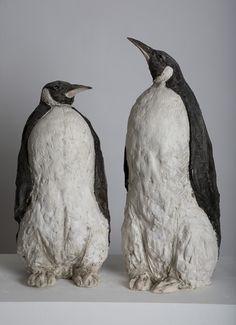 Penguins by Tanya Brett http://www.jonathancooper.co.uk/wp-content/gallery/tanya-brett-ice-souls/penguin-i-left-ceramic-42-x-20-x-23cm-15-7-x-7-9-x-9in-penguin-ii-right-ceramic-50-x-20-x-23cm-19-7-x-7-9-x-9-1in-sold.jpg