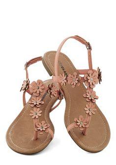 Garden Garland Sandal in Peach - Tan, Flower, Beach/Resort, Fairytale, Summer… Cute Sandals, Cute Shoes, Me Too Shoes, Shoes Sandals, Flat Sandals, Heels, Pumps, Strappy Sandals, Flat Shoes
