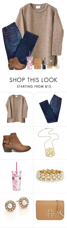 """you used to call me on my cellphone, late night when you need my love. ❤️"" by shannaolo ❤ liked on Polyvore featuring 7 For All Mankind, Steve Madden, Jennifer Zeuner, Lilly Pulitzer, R.J. Graziano, Oscar de la Renta, Tory Burch and Smashbox"