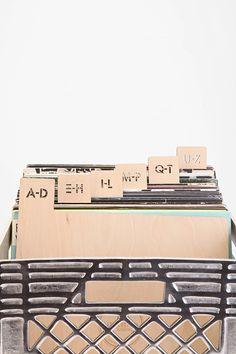 "Kate Koeppel Design 12"" Vinyl Record Divider Set"