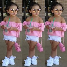 Cute Little Girls Outfits, Kids Outfits Girls, Dresses Kids Girl, Toddler Girl Outfits, Kids Girls, Toddler Dress, Cute Kids Fashion, Little Girl Fashion, Toddler Fashion