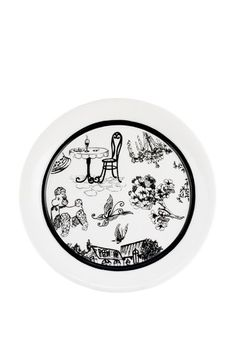 French Cafe Toile Salad Plate