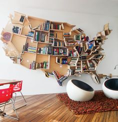 American Map Bookshelf: United States of Books