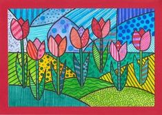 Pop Art Tulips Source by manelimagda Related posts: Tulips – first spring messengers in the garden school Tulips – first spring messengers in the garden Name Art Projects, Spring Arts And Crafts, Classe D'art, Pop Art, Cubism Art, 5th Grade Art, Art Drawings For Kids, Easter Art, Kindergarten Art