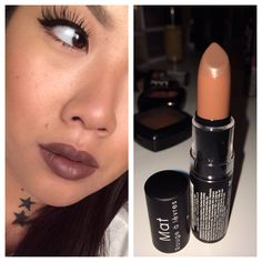 NYX matte lipstick in Maison