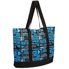Women's Carolina Panthers Collage Tote Bag