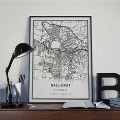 Ballarat map poster print wall art | Victoria gift printable download | Modern map decor for office, Wall Art Prints, Poster Prints, Classic House, Print Store, Interior Styling, Printable Art, Map, Victoria, Gift