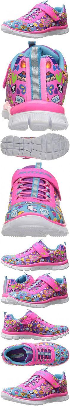 Skechers Kids Girls' Skech Appeal-Pixel Princess Sneaker, Emoji Multi, 5 M US Big Kid