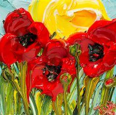 """12""""x12"""" - Acrylic on Canvas - Flora - Artist, Justin Gaffrey"""