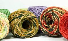 Hemp Yarn in multiple self striping colors. Hemp Yarn makes lovely shawls. How To Start Knitting, Knitting For Kids, Easy Knitting, Knitting For Beginners, Knitting Projects, Knitting Patterns, Yarn Images, Hemp Yarn, Different Types