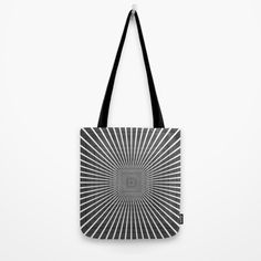 3D Room - White On Black Tote Bag by Moonshine Paradise  #3d #room #blackandwhite #illusion #totebags