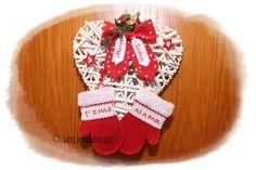 """Die von mir bestickten Filzhandschuhe """"sagen mehr als tausend Worte""""! Frisch verliebt ? Das erste Weihnachten als Paar? .... oder in der ersten gemeinsamen Wohnung??Erste Weihnacht als Paar - Advent - verliebt von Antjes Design auf DaWanda.com"""