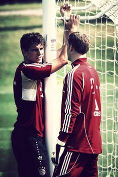 Mario Gomez & Manuel Neuer- Germany's no.1 Goalkeeper and Striker.