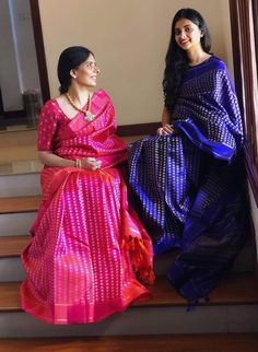 Beautiful Kanchipuram sarees by silkywayboutique. Do visit their page for tastefully curated saree collection Indian Silk Sarees, Tussar Silk Saree, Kanchipuram Saree, Pure Silk Sarees, Cutwork Saree, Bengali Saree, Banaras Sarees, Saree Wearing Styles, Saree Styles
