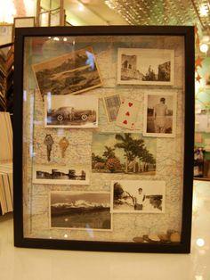 Expor as fotos antigas dos avós, etc  na parede da casa, lindo!