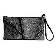 Detail leaf in artistic black and white Clutch Bag> Black and white leaf veins> Victory Ink Tshirts and Gifts