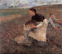 Bastien- Lepage, Jules October: Gathering Potatoes,1879