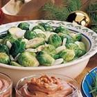 Brussel sprouts with a citrus dijon, butter sauce!
