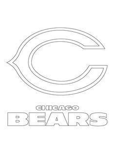 chicago bears logo coloring page from nfl category select from 20946 printable crafts of cartoons