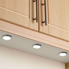 Under cabinet LED lighting for kitchen