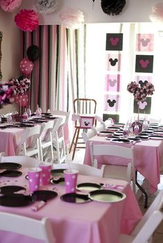 Minnie Mouse birthday party decorations girl-birthday-party-ideas