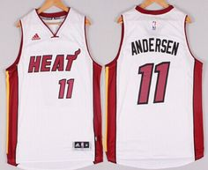 Miami Heat #11 Chris Andersen Revolution 30 Swingman 2014 Christmas Day White Jersey