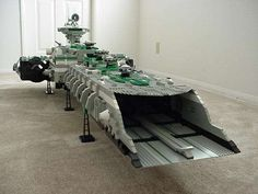 A-Wing Carrier in lego. The design is reminiscent of EV:Nova carriers