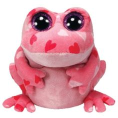 Ty Smitten the Pink Frog Animal Beanie Boos Stuffed Plush Toy