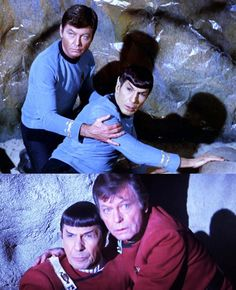 They may bicker, but Spock and McCoy really care about each other when it counts. <3