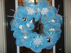 Winter/Snowman Wreath (Deco Mesh)