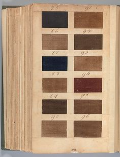Fustian: Textile Sample Book Date: 1771 Culture: British Medium: Paper, cloth binding, with attached samples of fustian