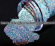 I see glitter ALL over the floor at dance competitions!!