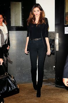Black, black and oh wait, black. Miranda Kerr