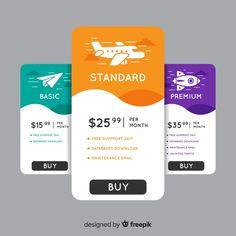 Pricing table Vectors, Photos and PSD files Footer Design, Web Design, App Ui Design, Mobile App Design, Card Ui, Social Media Poster, Graphic Design Brochure, Pricing Table, Instructional Design