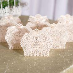 Foil Lace Favor Boxes by Beau-coup