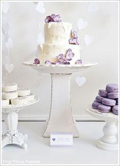 Lavender wedding dessert table display
