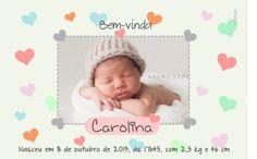 Birth Annoucments-  A chegada do filho é um momento tão especial que merece ser anunciada com muito estilo.