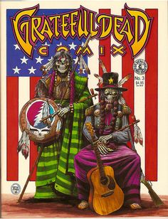 ☮ American Hippie Rock Music ~ Grateful Dead . . . reminds me of the American Gothic painting a little bit