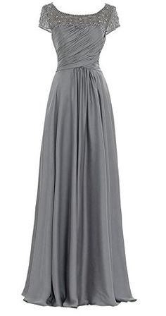 Dobelove Womens Chiffon Cap Sleeves Formal Gowns Mother of the Bride Dress -- For more information, visit image link.