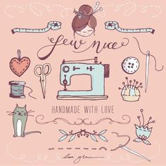 Lovely and FREE clip art graphics. Cute craft clip art with sewing machine and scissors.